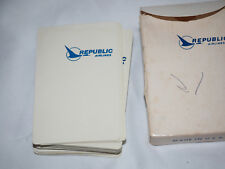Vintage REPUBLIC AIRLINES PLAYING CARDS in original box