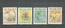 T1203 - LIBERIA 1955 - SERIE COMPLETA FIORI ** - VEDI FOTO