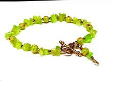 Green Glass Milifori Beaded Bracelet