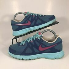 Big Kids Nike Revolution 2 Blue/Pink Size 6Y Womens Shoes Sneakers Size 7.5