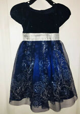Jona Michelle Girls Navy & Silver Holiday Dress Party Dress NWT - Size 5