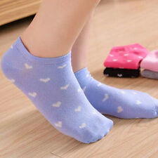 10Pcs Cute candy color Womens Sports Casual Cute Heart Ankle High Cotton Socks