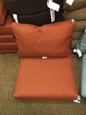 Frontgate Outdoor Patio Sonoma Chair Sofa Cushions Terracotta Orange 29x27 NEW