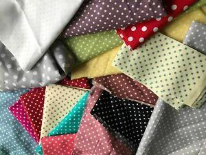 SCRAP BOX - 100% Cotton Fabric POLKA DOT PRINTS  ONLY  - 700g per order