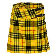 """Ladies Knee Length Macleod Of Lewis Kilt Skirt 20"""" Length Tartan Pleated"""