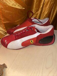 Puma Red Ferrari Racing Boots Hi-Top Sneakers Shoes Size 8.5UK 9.5US 43 EU