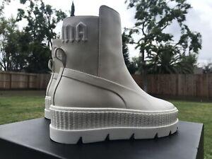 PUMA Women's Fenty x Chelsea Sneaker Boots, Vanilla, Size 8.5 FeQI