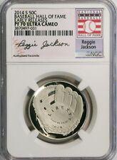 2014-S 50c Reggie Jackson Baseball Hall of Fame NGC(Proof)PF-70 UC Early Release