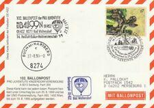 BPÖ_140 Österreich: 102. Ballonpost Bad Waltersdorf => Buch 27.08.99 - Schlange