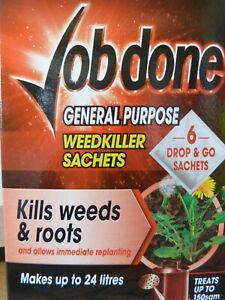 Bayer Job Done STRONG General Purpose Weedkiller-12 Sachets Weedkiller