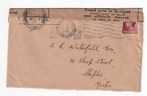 EVIII - 1½d on cover - Dated 26/10/1936 - Found open or damaged label affixed