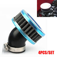 4x 50mm Motorcycle ATV Scooter Air Intake Filter Cleaner + Clamp Stainless Steel