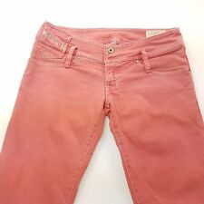 Diesel MATIC Womens Jeans W28 L34 Pink Regular STRETCH Straight Low Rise