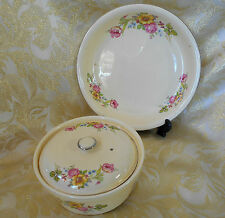 Lot 1936 Homer Laughlin Virgina Rose Pie Plate Baking Casserole Vegetable Dish