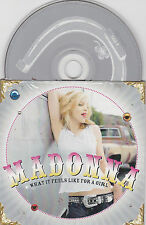 CD CARTONNE CARDSLEEVE 2T MADONNA WHAT IT FEELS LIKE FOR A GIRL TBE