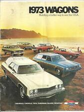 vintage 1973 Chevrolet Wagons dealer sale brochure Chevy Blazer Vega Chevelle GM