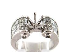 2.21 CT Natural diamond semi mount ring/ setting only VS1/G 18K white gold