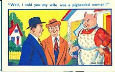 POSTCARD COMIC Well I told you my wife was....