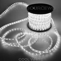 """150' FEET LED Rope Lights COOL WHITE COLOR 1/2"""" /13MM 1656 LEDs With Accessories"""
