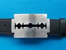 Belt Razor Blade Buckle Punk Goth Gothic Emo Rock HipHop Razorblade FREE UK POST