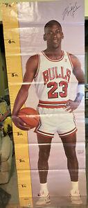 "Vintage 1987 Michael Jordan Measure Up Poster Life Size 82""x 29"" inches NBA"