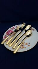 Cambridge Soiree Gold 5-Piece Place Setting 18/10 Stainless Steel Gold Plating