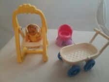 Fisher-Price Loving Family Sweet Sounds Dollhouse Baby Swing & Baby (+ Extras)