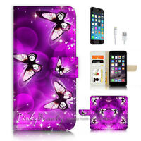 ( For iPhone 6 / 6S ) Wallet Case Cover P3581 Butterfly