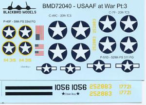USAAF at War Pt:3 1/72nd scale decals