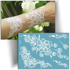 ►TATOUAGE TEMPORAIRE FLEUR (Tattoo éphémère mariage / Henné blanc provisoire)◄