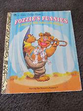 LITTLE GOLDEN BOOK...Hardcover    book...1993 FOZZIE's FUNNIES..Muppets!