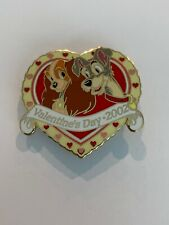 Valentine's Day 2002 Lady & The Tramp In Heart Disney Pin (B1)