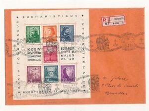 D155340 Hungary Cover Registered Budapest 1929 Bruxelles Belgium