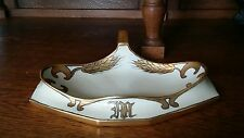 Antique 1915 Art Deco Limoges France T & V Artist Signed Desk Dresser Tray Gold