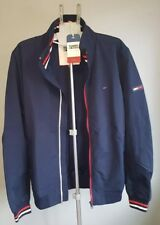 Men's Tommy Hilfiger Bomber Jacket Navy Blue Long Sleeve Zip up Size XL BNWT