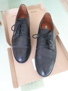 Chaussures derbies GEOX en cuir noir - pointure 40 - excellent état