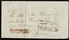 J) 1858 MEXICO, BLACK SEAL, RED BOX, CIRCULATED COVER, FROM MONCLOVA TO MONTERRE