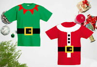 Elf Santas Helper Claus T-Shirt, Funny Christmas Day Xmas Gift Kids & Adults Top