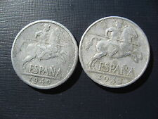 Spain 10 Centimos 1940 & 1941.
