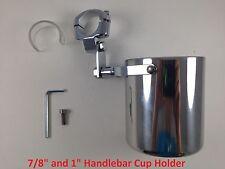 Motorcycle Handlebar Cup Holder Stainless Steel Metal Drink Mounted Honda
