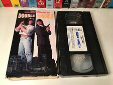 * Double Trouble Rare Action Comedy VHS 1992 Barbarian Brothers Peter David Paul
