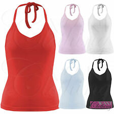 Unbranded Women's Halterneck Vest Top, Strappy, Cami Tops & Shirts