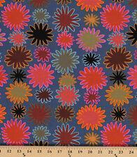 Cotton Kaffe Fasset Uzbekistan Flowers Brown Cotton Fabric Print by Yard D405.06