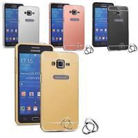 Coque Bumper Metal Samsung Galaxy Grand Prime G530 Etui Housse Anti Choc Miroir