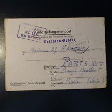LETTRE PRISONNIER DE GUERRE STALAG II D 01.09.42 KRIEGSGEFANGENENPOST POW