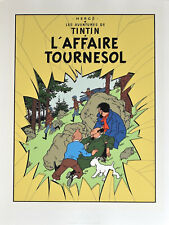 """HERGÉ. TINTIN . SÉRIGRAPHIE - """" L'AFFAIRE TOURNESOL """""""