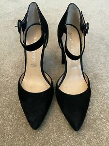 Mint Velvet Shoes Ladies Womens Heels Black Suede Court Size 6 39 Leather