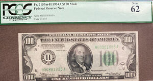 1934A $100 Bill!  Graded PCGS 62 - NEW!  St. Louis Mintage!  Rare and Nice Note!