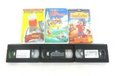 Lot of 3 Children's VHS Movies The Rescuers Stuart Little An American Tale