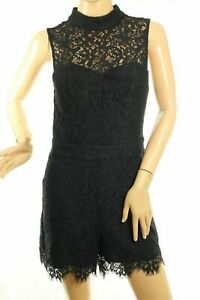 GUESS Women's Kylie Lace Black Romper Retail
